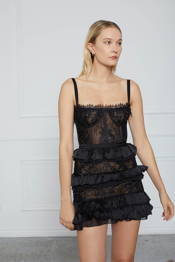 The Peony Dress in Black