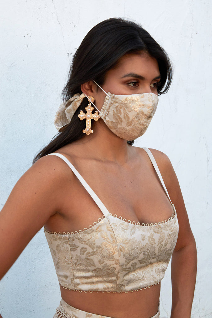 Bow Face Mask in Duchess Lamé - Pre-Order