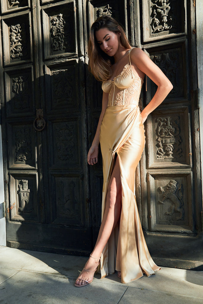 The Calla Lily Dress in Warm Sand - Pre-Order for June