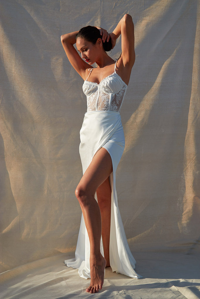 The Calla Lily Dress in White