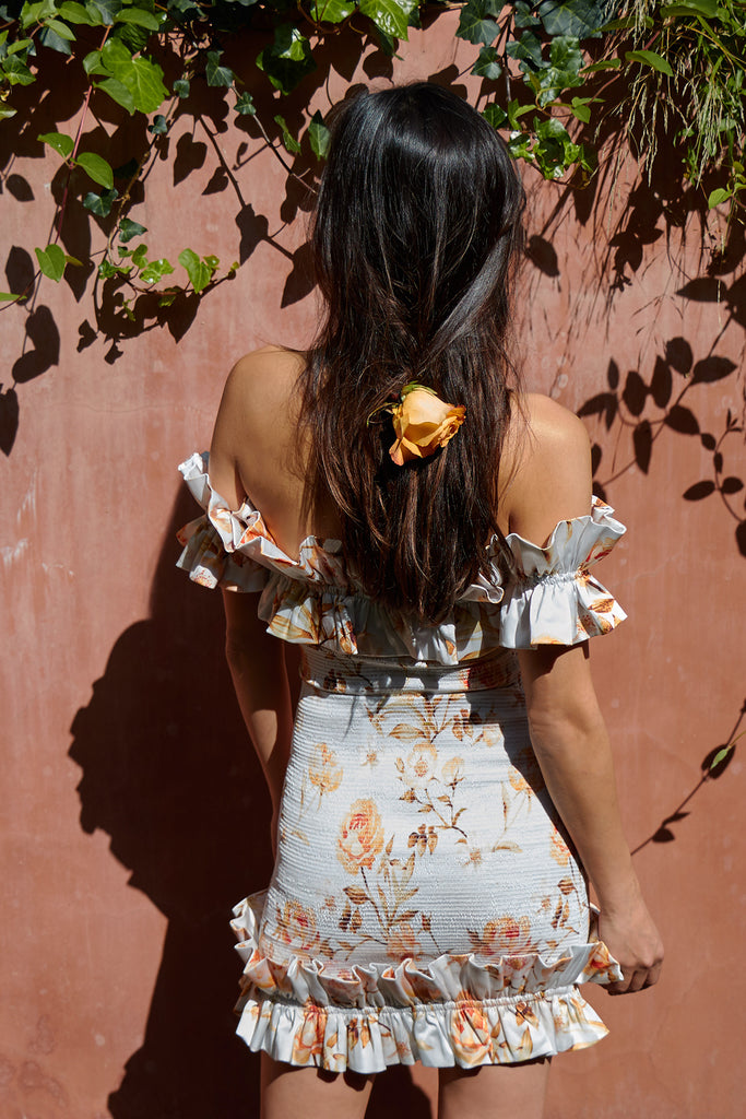 The Flora Dress in Savannah Rose Sunset