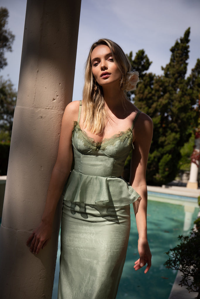 The ViVi Dress in Sage