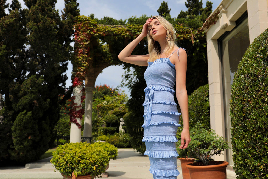 The Lily Dress in Brunnera Blue
