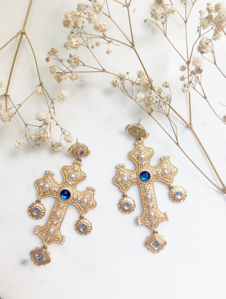 The Positano Earring in Sapphire Mix