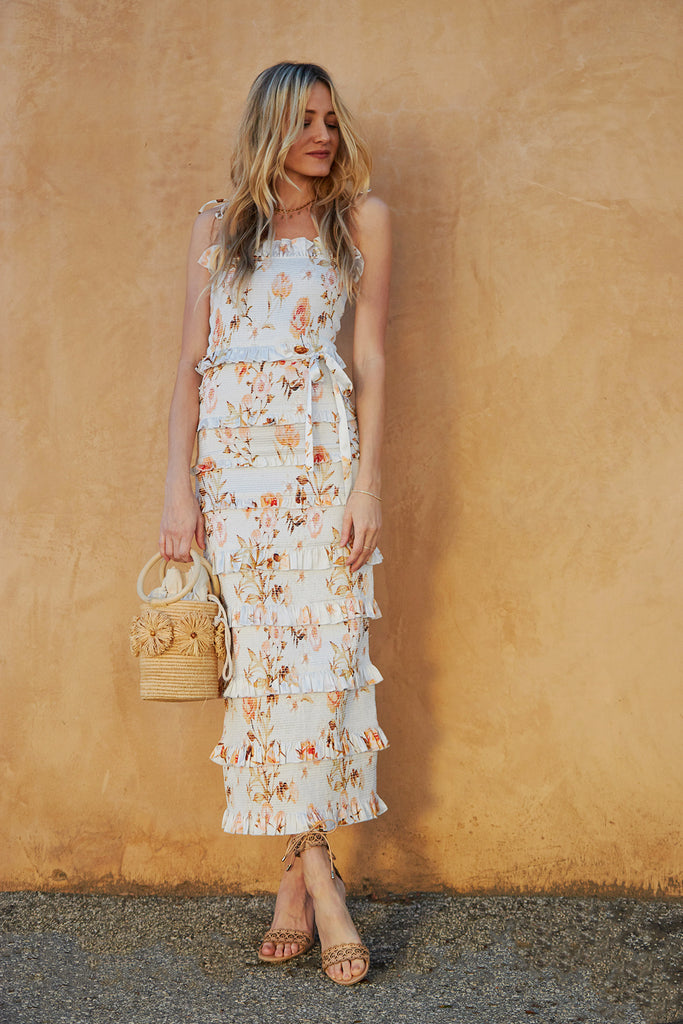 The Lily Dress in Savannah Rose Sunset