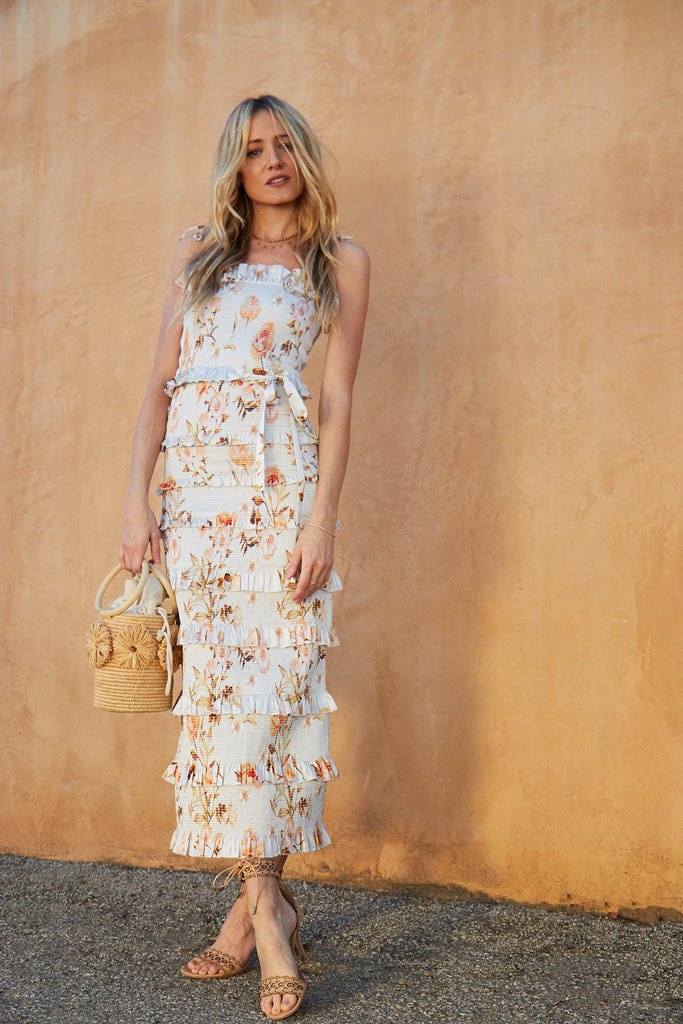 v. chapman lily dress savannah rose sunset