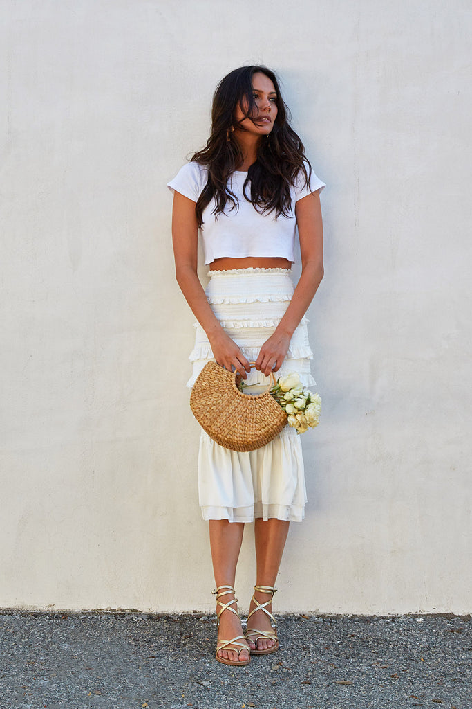 The Linnea Skirt in White
