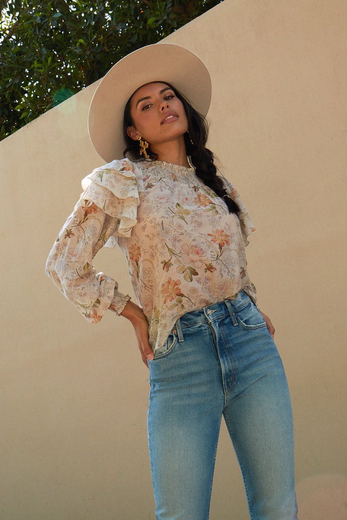 v. chapman lucca floral top