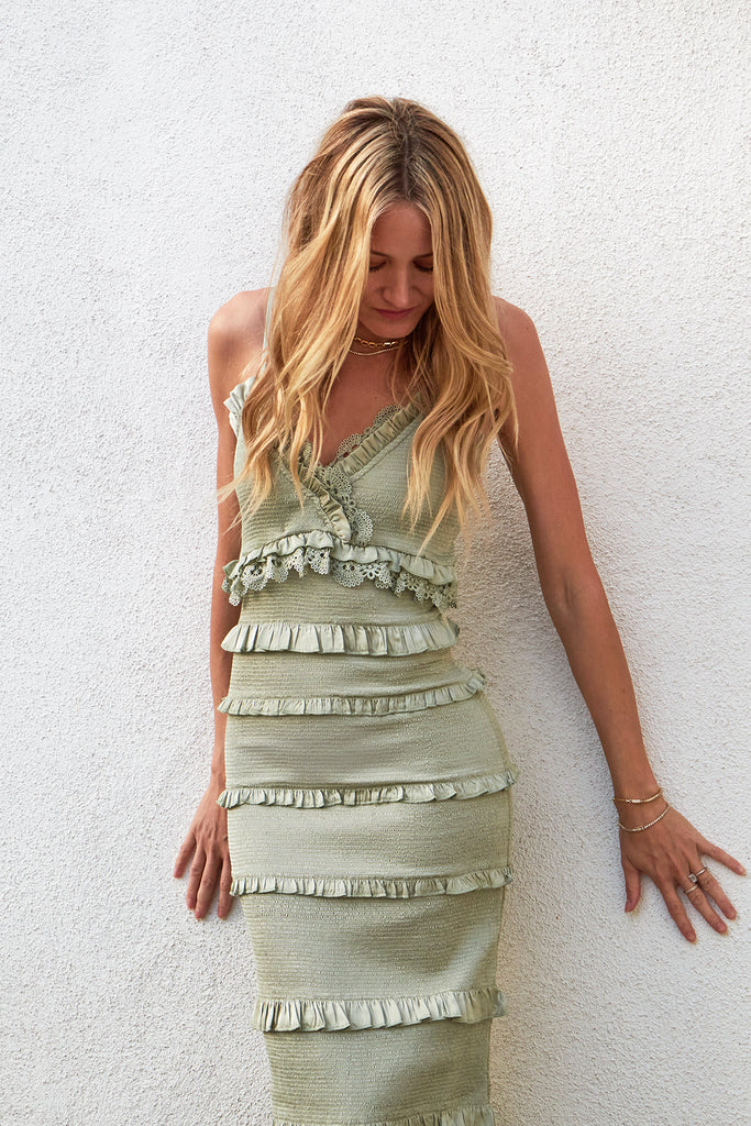 The Narcisse Dress in Sage