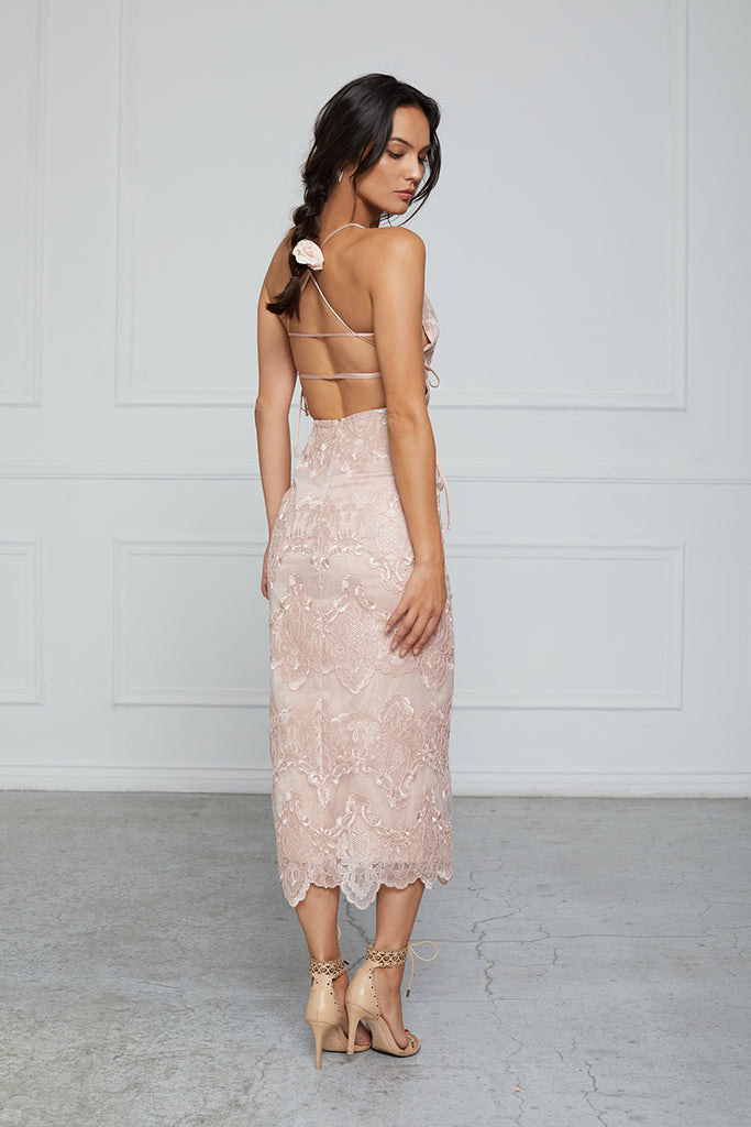 The Olivia Dress in Rose Dust Lace - **Pre-Order for June**