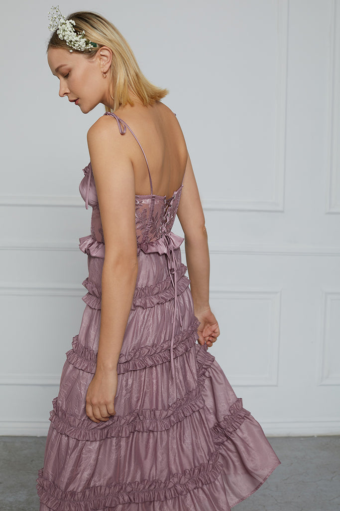 The Primrose Dress in Elderberry