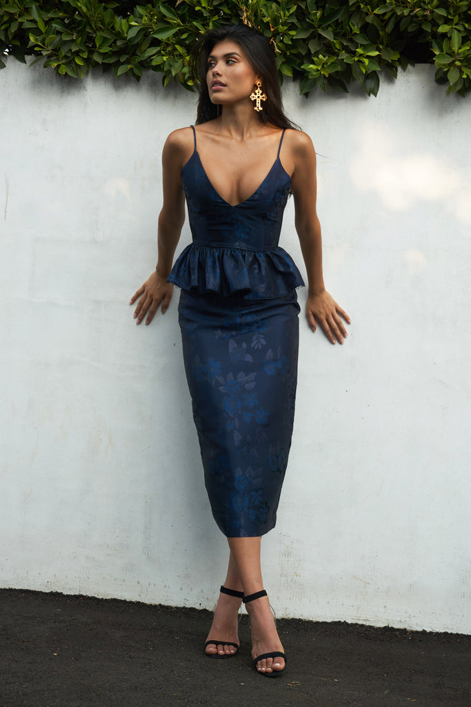 The Rose Dress in Baroque Navy