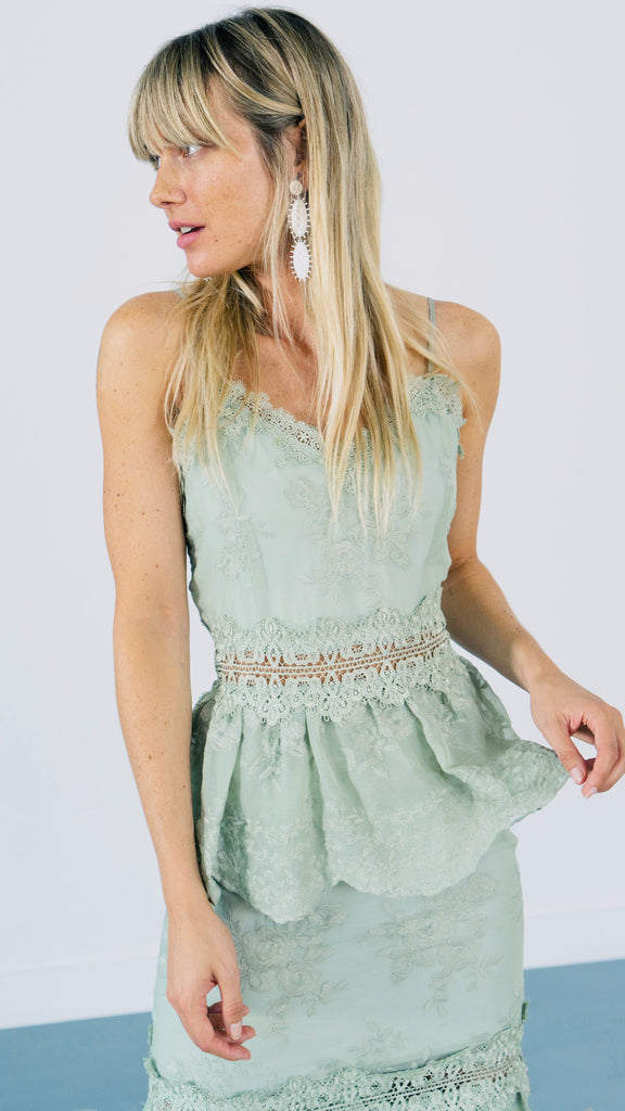 The Dahlia Dress in Sage