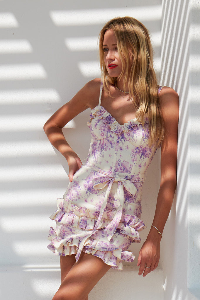 The Camilla Dress in Purple Country Floral
