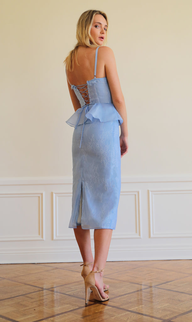 The ViVi Dress in Brunnera Blue