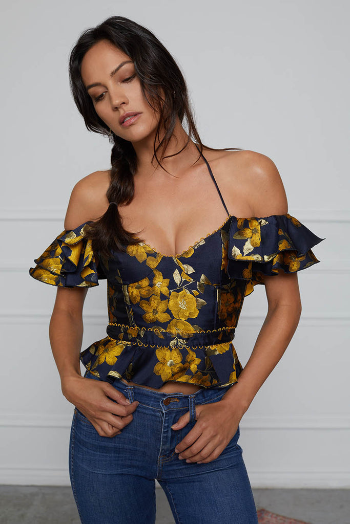 The Viennese Top in Yellow Superbell