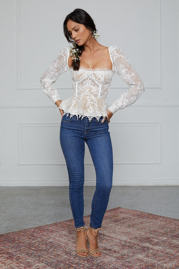 The Zinnia Top in White