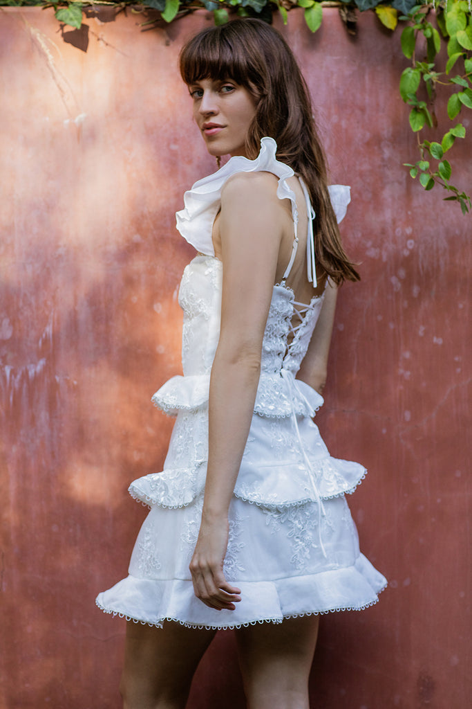 The Avignon Dress in White
