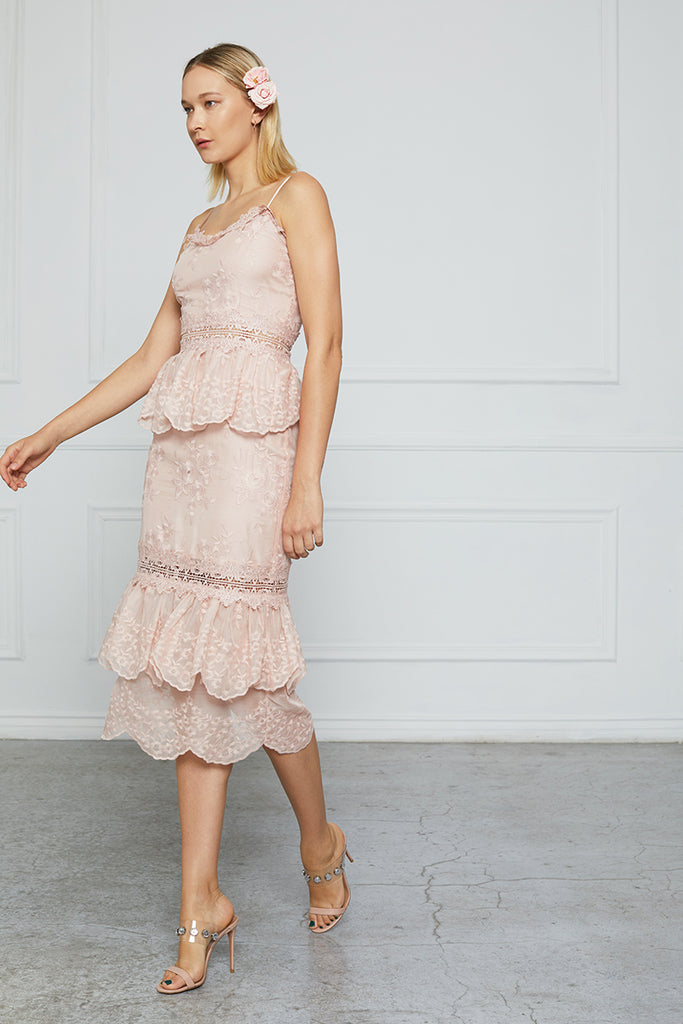 The Dahlia Dress in Rose Dust