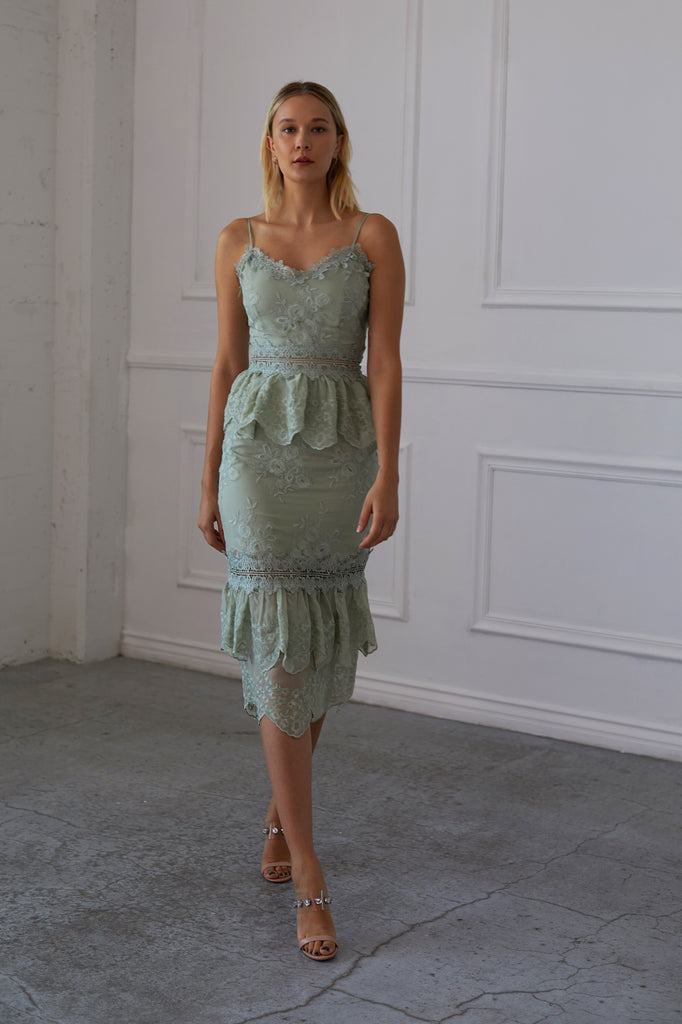 The Dahlia Dress in Sage - Special Sale