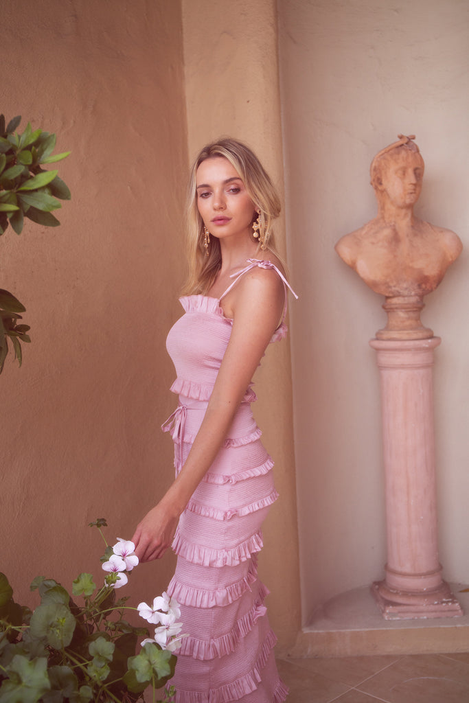 The Lily Dress in Pink Parfait