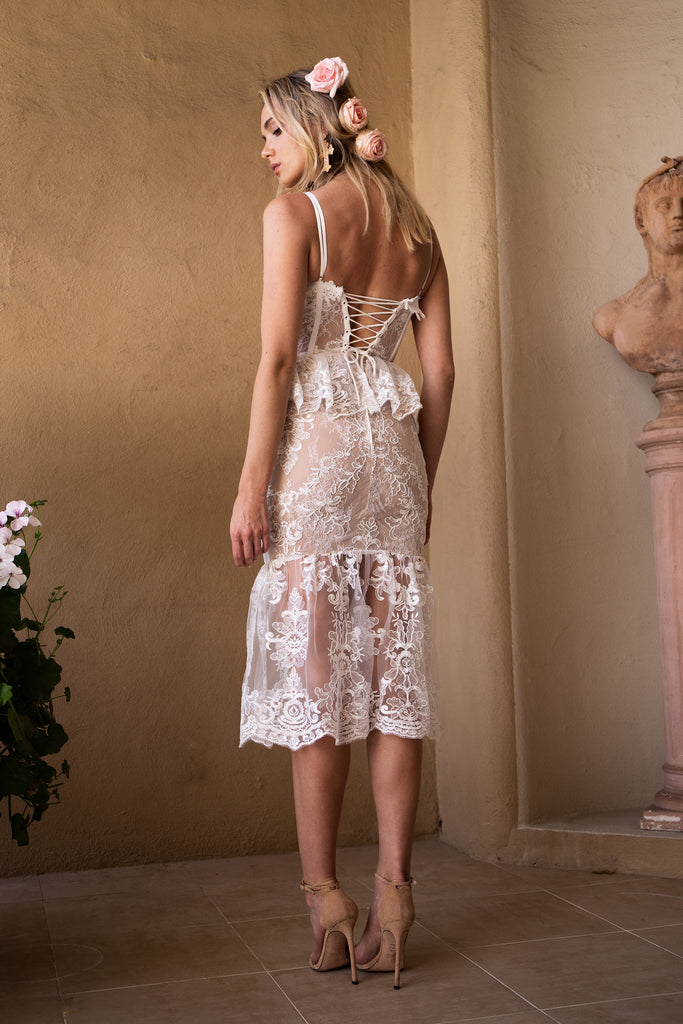 The Orchid Dress in White