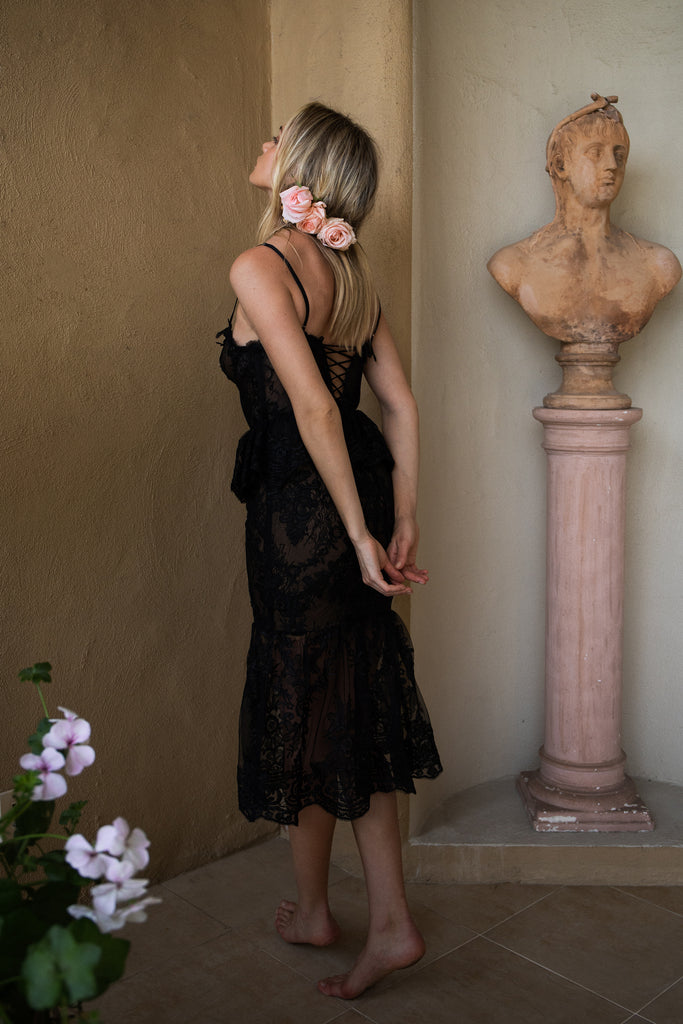 The Orchid Dress in Black