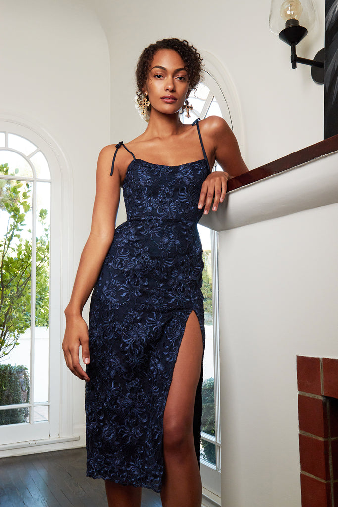 v. chapman porter navy lace dress