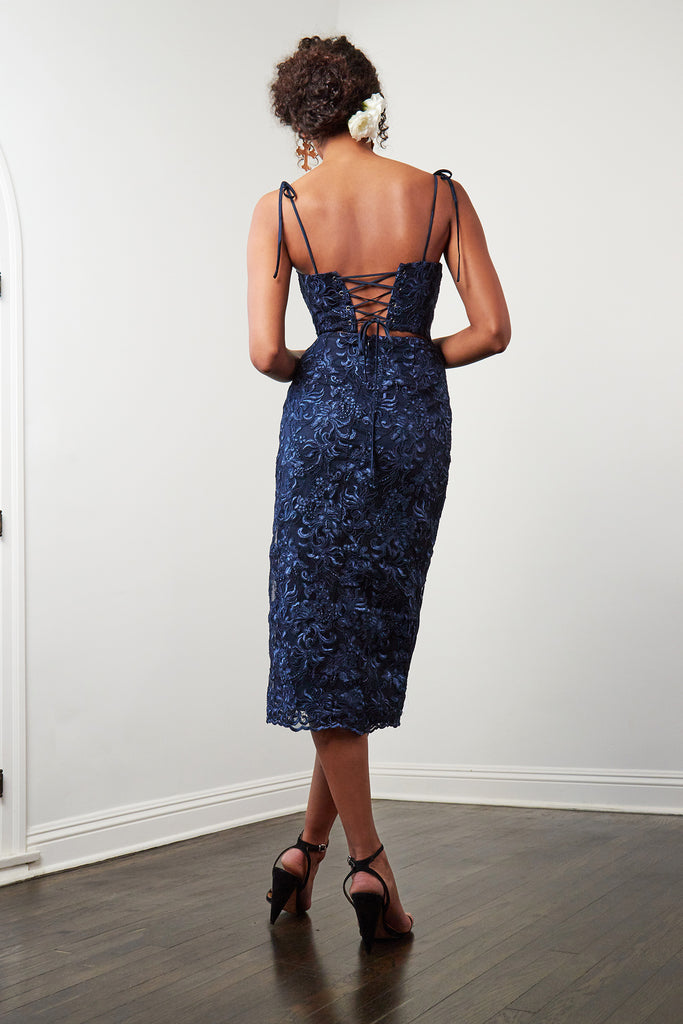 The Porter Dress in Navy