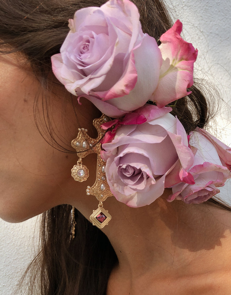 The Positano Earring in Vintage Rose