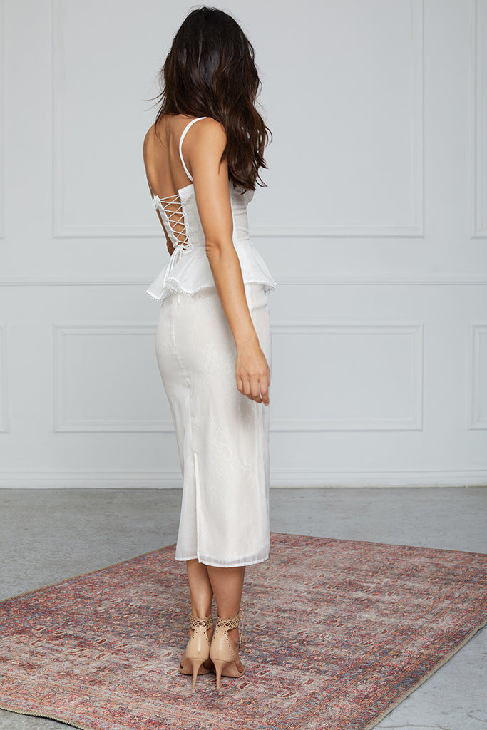 The ViVi Dress in White