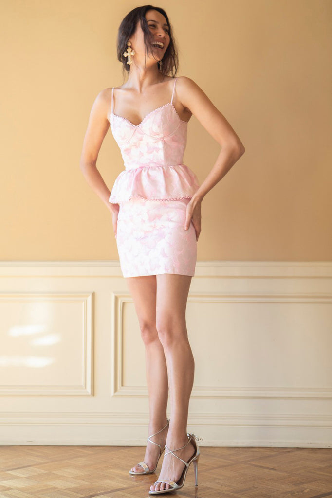 The Versailles Dress in Pink Macaron