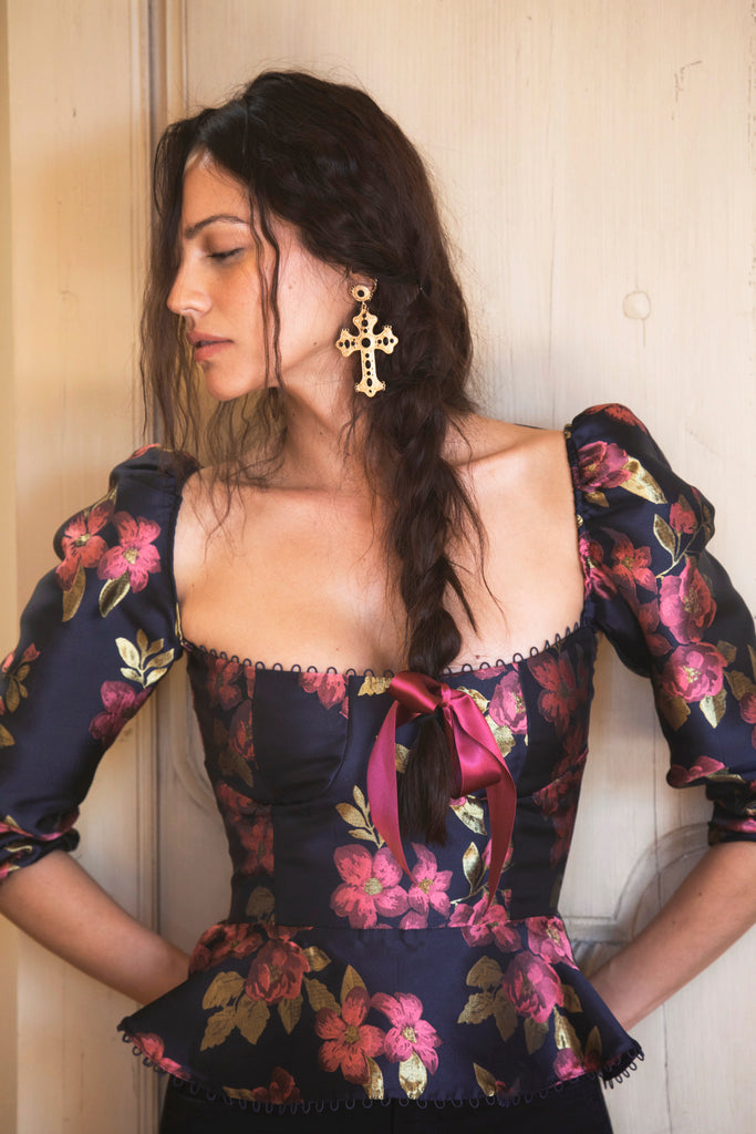 The Georgiana Top in Baroque Rose