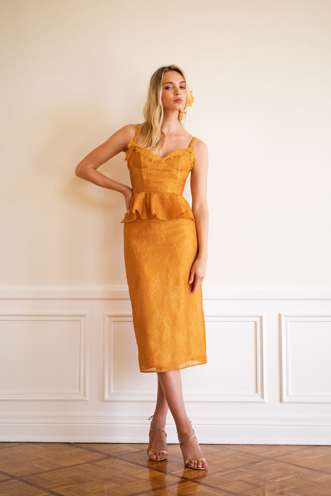 The ViVi Dress in Inca Gold