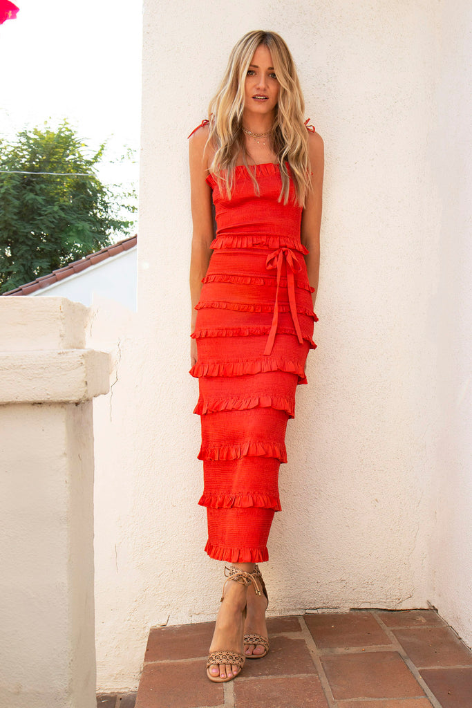 The Lily Dress in Red Clay