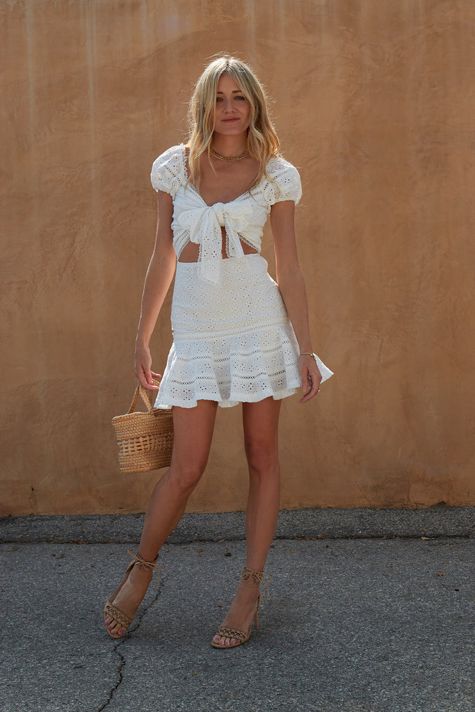 The Praline Dress in White
