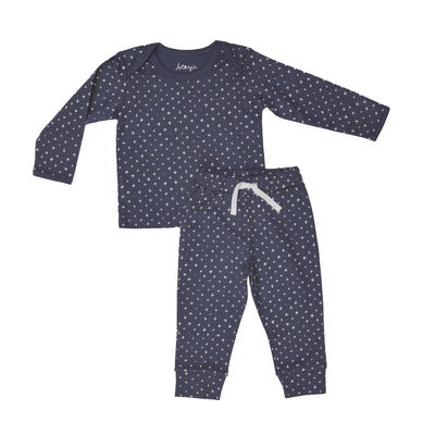 Blue Criss Cross Two Piece Set - Beezú Baby
