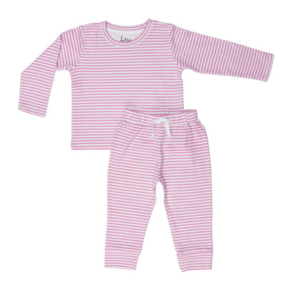 Pink Stripe Long Two Piece Set - Beezú Baby