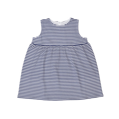 Blue Stripe Sleeveless Dress - Beezú Baby