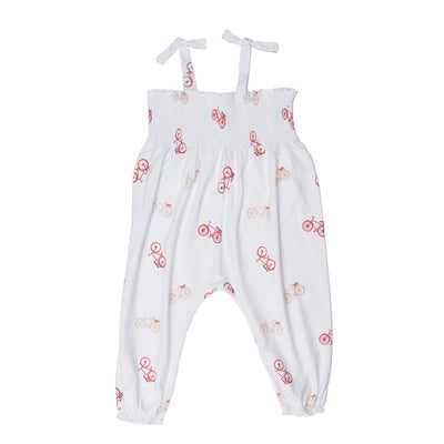 Bicycle Long Romper - Beezú Baby
