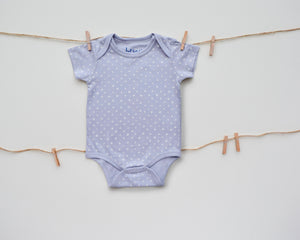 Criss-Cross Grey Short Sleeve Onesie