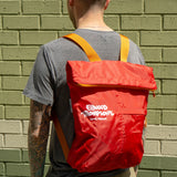 Roll-Up Backpack in Red