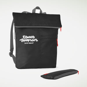 Roll-Up Backpack in Black