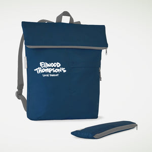 Roll-Up Backpack in Navy