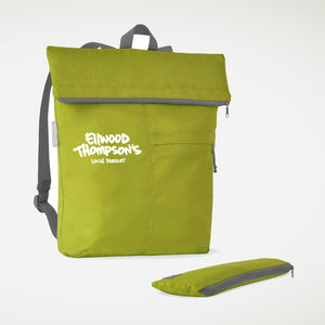 Roll-Up Backpack in Green