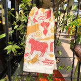 Organic Cotton Dish Towel in Red