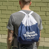 Drawstring Backpack in Navy