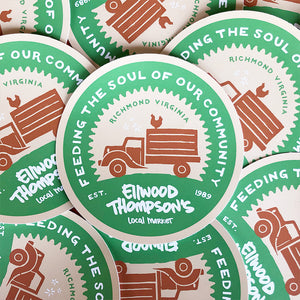 Sticker: Old-Timey Truck in Green