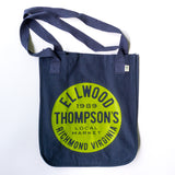 Organic Canvas Tote - Green on Navy