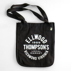 Organic Canvas Tote - White on Black